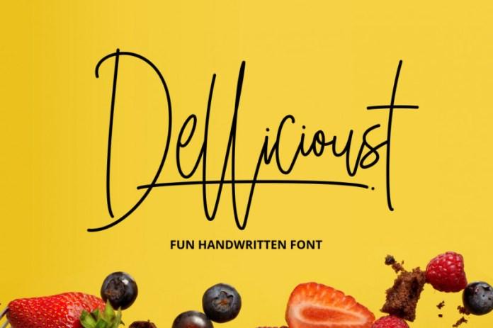 Dellicioust Handwritten Font