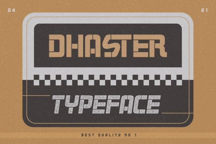 Dhaster Display Font