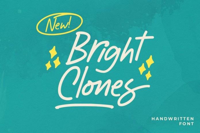 Bright Clones Handwritten Font
