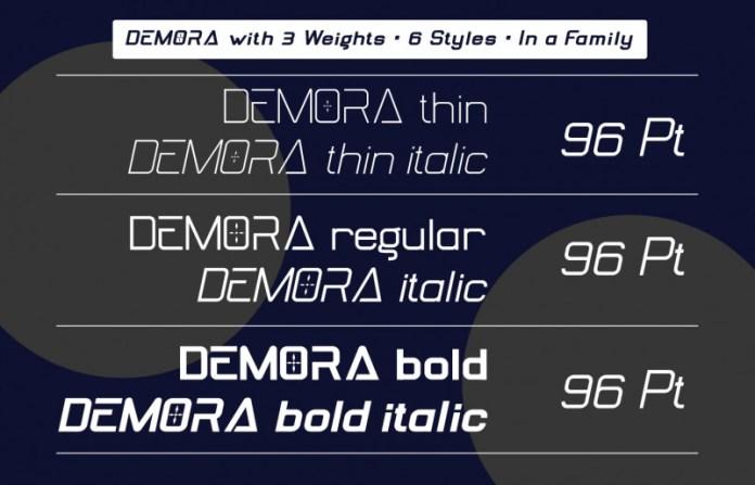 DEMORA Display Font