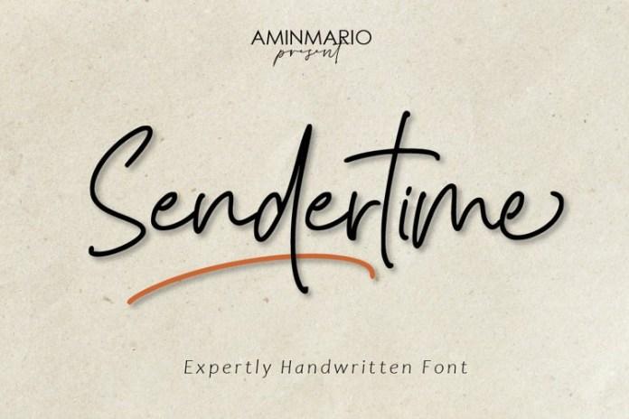 Sendertime Handwritten Font