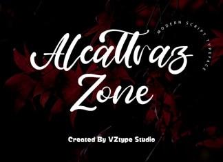 Alcattraz Zone Script Font