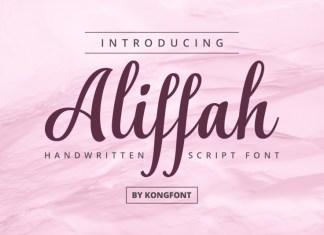 Aliffah Script Font