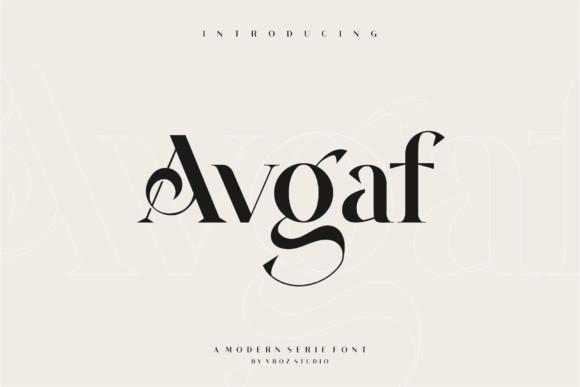 Avgaf Serif Font