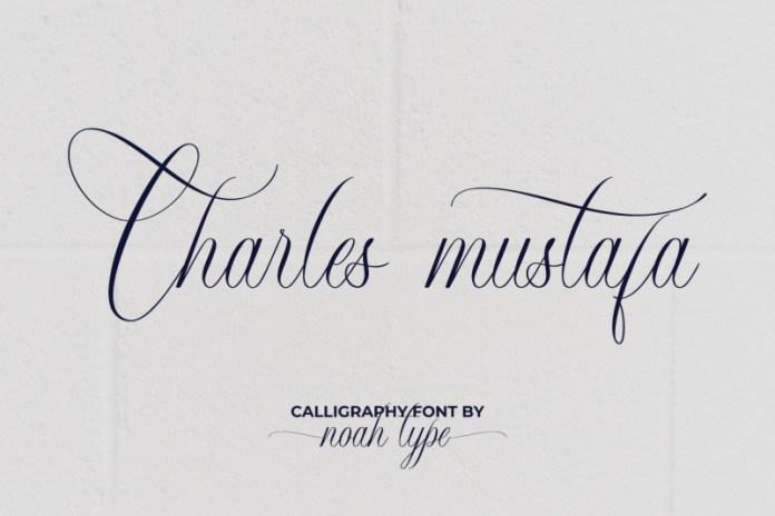 Charles Mustafa Calligraphy Font