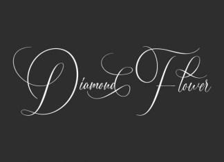 Diamond Flower Calligraphy Font
