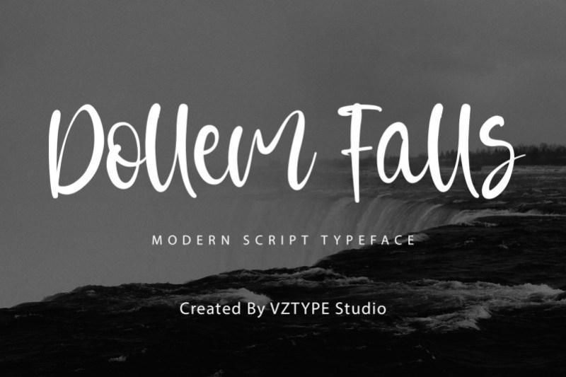 Dollem Falls Script Font