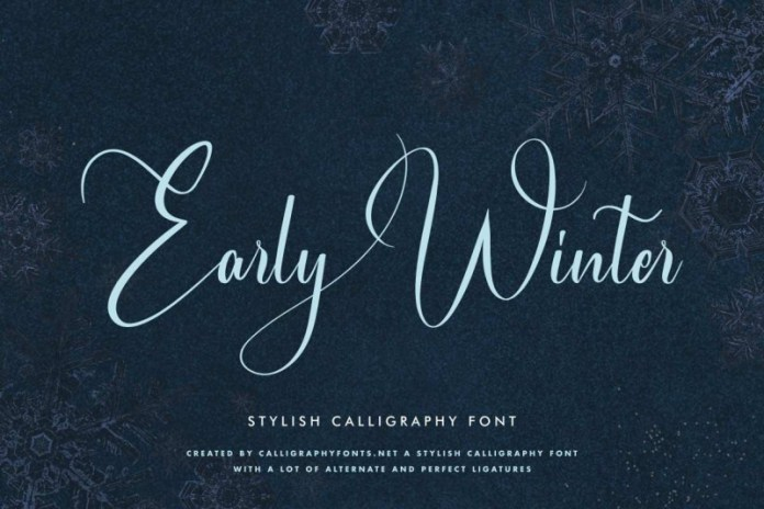 Early Winter Calligraphy Font