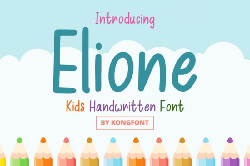 Elione Display Font