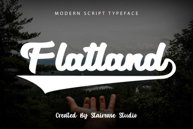 Flatland Script Font