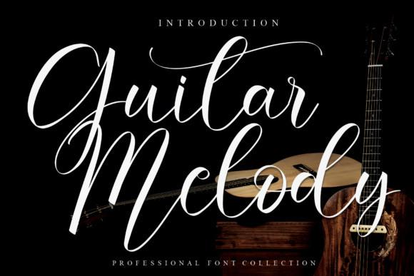 Guitar Melody Script Font