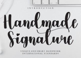 Handmade Signature Script Font