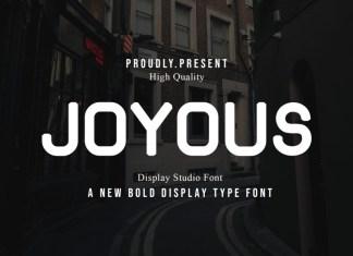 Joyous Display Font