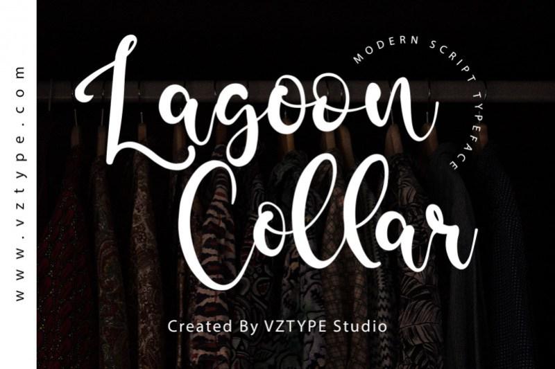 Lagoon Collar Font