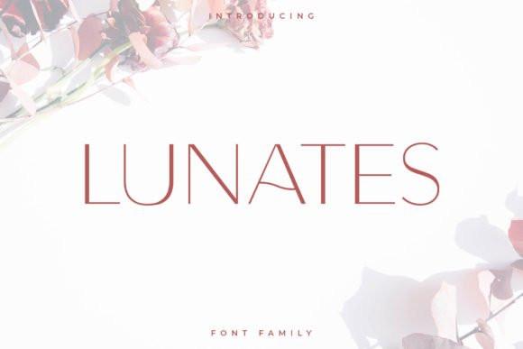 Lunates Sans Serif Font