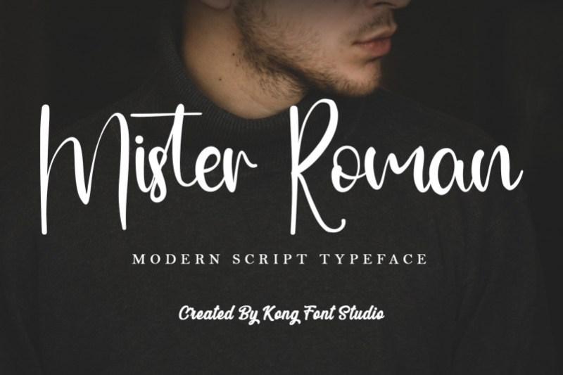 Mister Roman Script Font