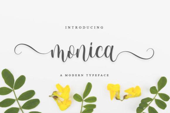 Monica Calligraphy Font