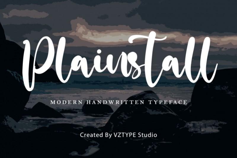 Plainstall Script Font