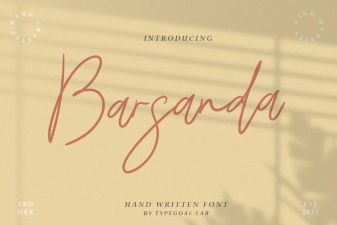 Barsanda Handwritten Font