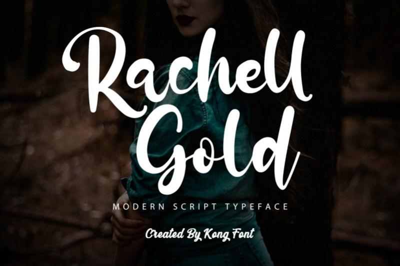 Rachell Gold Script Font