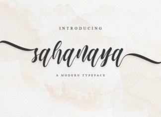 Sahanaya Script Font