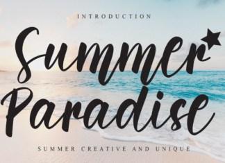 Summer Paradise Script Font