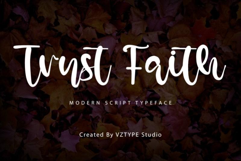 Trust Faith Script Font