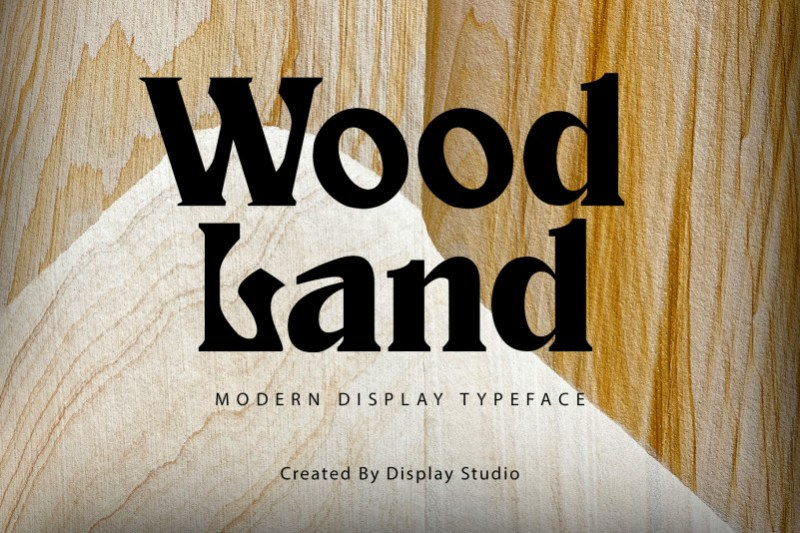 Wood Land Display Font