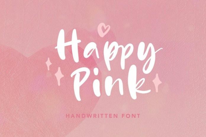 Happy Pink Script Font