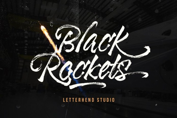 Black Rockets Brush Font