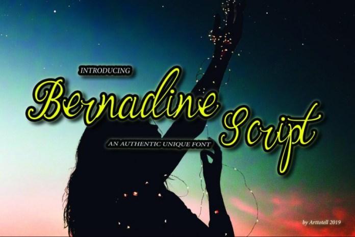 Bernadine Script Font