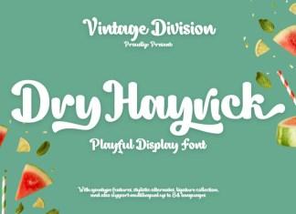 Dry Hayrick Script Font