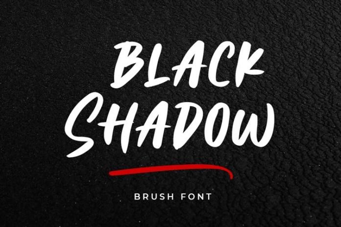 Black Shadow Script Font