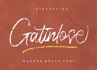 Gatinlose Brush Font
