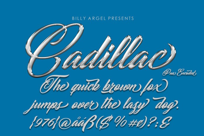 Cadillac Calligraphy Font