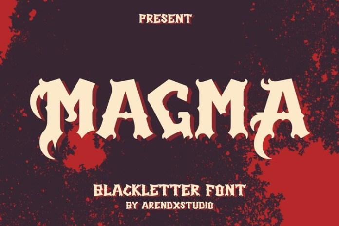 Magma Display Font