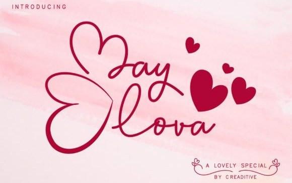 May Lova Script Font