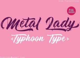 Metal Lady Script Font