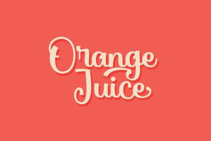 Orange Juice Script Font