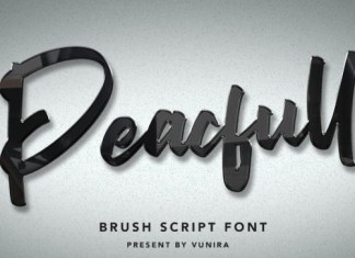 Peacfull Brush Font