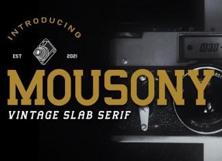 Mousony Slab Serif Font