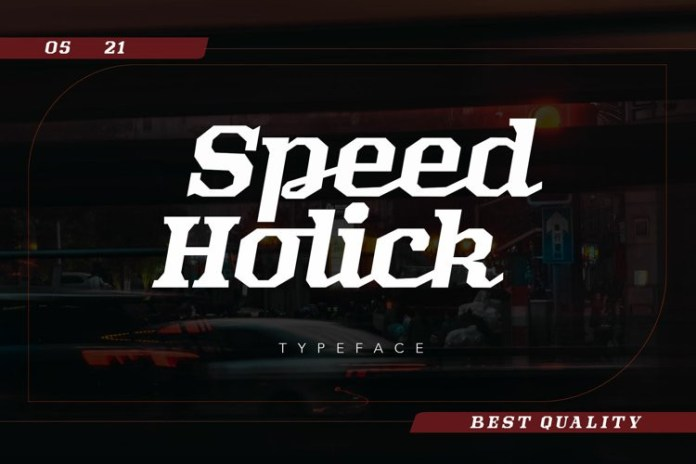 Speed Holick Display Font