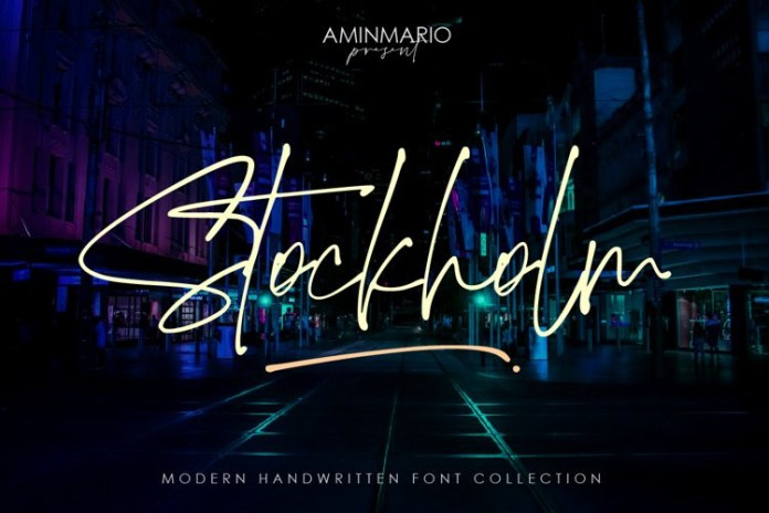 Stockholm Script Font