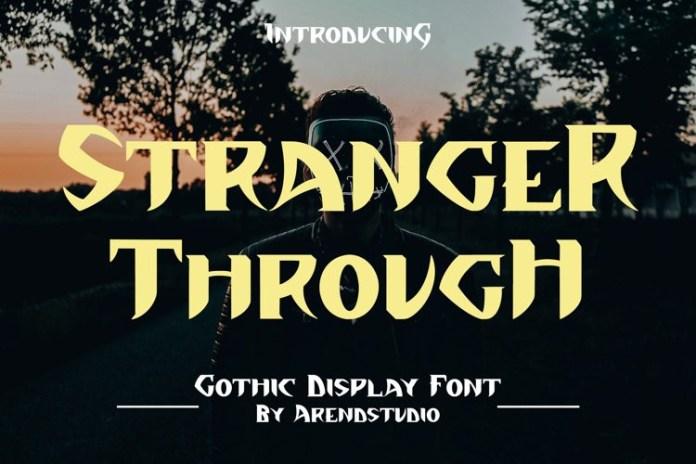 Stranger Through Display Font