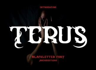 Terus Display Font