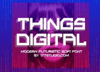 Things Digital Display Font