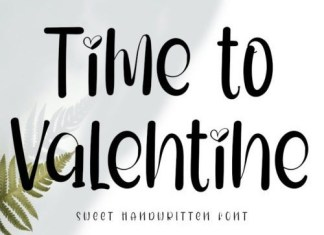 Time To Valentine Script Font