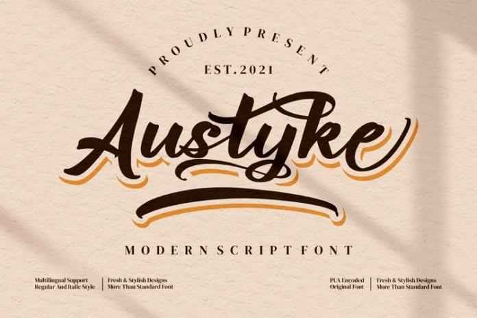 Austyke Script Font