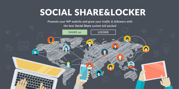 Social Share & Locker Pro WordPress Plugin 1