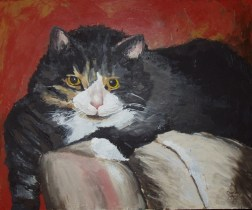 """This is MY Chair, acrylic, 20""""x24 ©Charlotte B. DeMolay"""